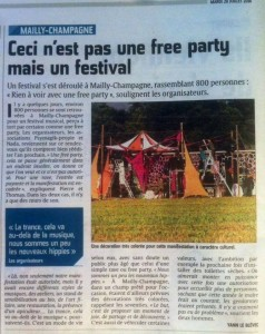 Journal l'union, article Fusion Vibes 2